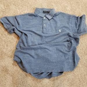 Ralph Lauren Polo Blue Short Sleeve Shirt: 2XB